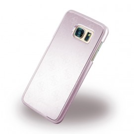 Coque Samsung Galaxy S7 Edge G935 Guess Aluminium Rose Or motif 4G