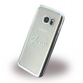 Coque Samsung Galaxy S7 G930 Guess Tpu grise coeur