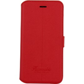 Etui iPhone 7 Façonnable folio Liseré rouge