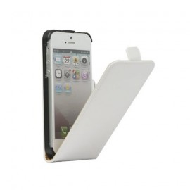 Etui iphone 5 / 5s / SE aspect carbone blanc