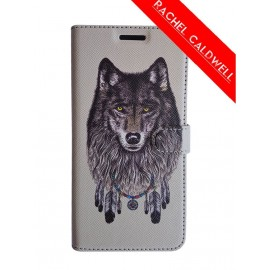 Etui iPhone 5 / 5s / SE folio Wolf