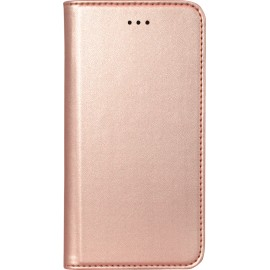Etui iphone 5 / 5s / SE folio rose métal de Bigben