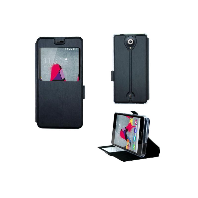 etui wiko u feel folio vision noir destination telecom. Black Bedroom Furniture Sets. Home Design Ideas