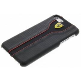 Coque iphone 7 Ferrari Racing aspect carbone noir