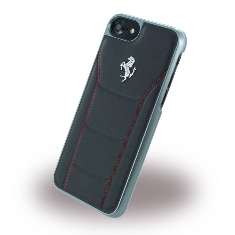 coque iphone 7 ferrari cuir noir - destination telecom