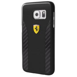 Coque Samsung Galaxy S7 G930 Ferrari carbon black