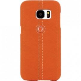Coque Samsung Galaxy S7 Edge G935 Façonnable bouton laqué orange