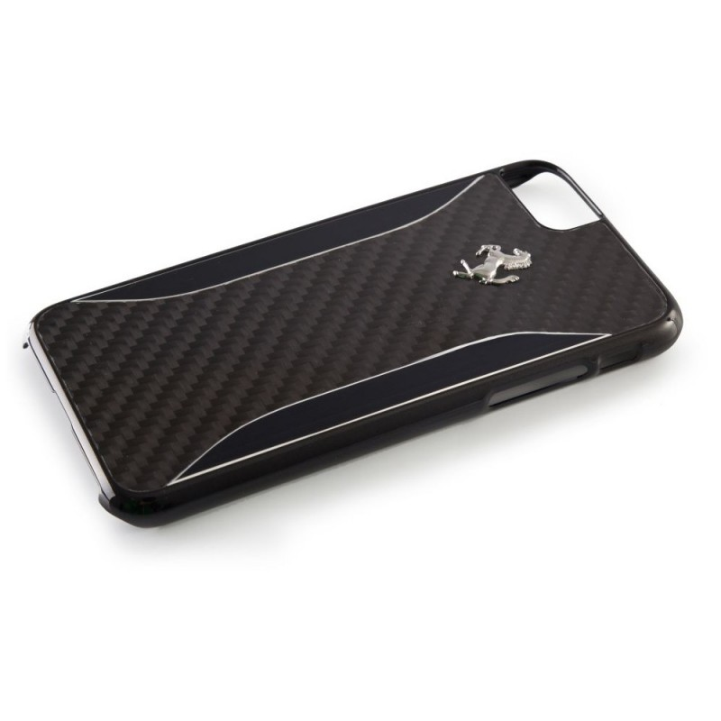 coque iphone 7 ferrari gt experience carbone noir - destination
