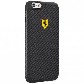 Coque iphone 6 / 6s Ferrari carbone noir