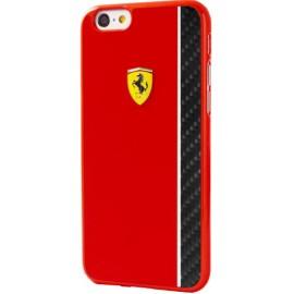 Coque iphone 6 / 6s Ferrari rouge et carbone noir