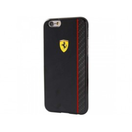 Coque iphone 6 / 6s Ferrari noire et carbone noir
