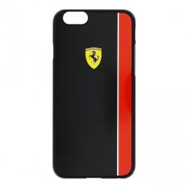 Coque iphone 6 / 6s Ferrari noire bande rouge