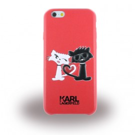 Coque iPhone 6 / 6s Karl Largerfeld choupette rouge