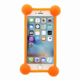 Bumper Universel silicone orange avec contours lumineux