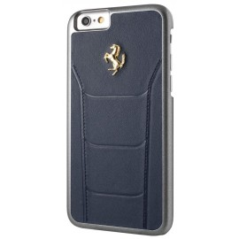 Coque iphone 6 / 6s Ferrari cuir Bleu