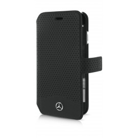 Etui iphone 7 Mercedes Folio Perforated Black