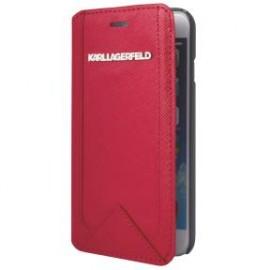 Etui iPhone 5 / 5s / SE Karl Lagerfeld Folio rouge