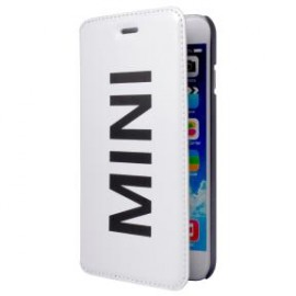 Etui folio iPhone 6 plus / 6s plus MINI Vinyl blanc