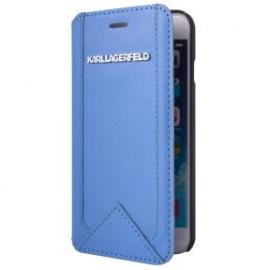 Etui iPhone 6 plus / 6s plus Karl Lagerfeld Folio bleu