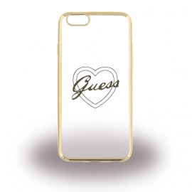 Coque iphone 6 plus / 6s plus Guess silicone coeur gold