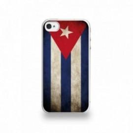 Coque  iPhone 4/4S Silicone motif Drapeau Cuba Vintage