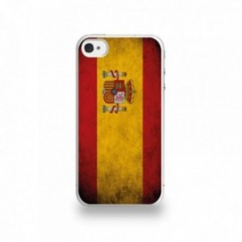 Coque  iPhone 4/4S Silicone motif Drapeau Espagne Vintage