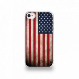 Coque  iPhone 4/4S Silicone motif Drapeau États-Unis Vintage
