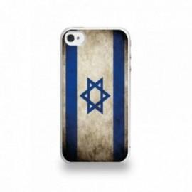 Coque  iPhone 4/4S Silicone motif Drapeau Israël Vintage
