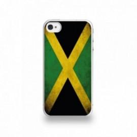 Coque  iPhone 4/4S Silicone motif Drapeau Jamaïque Vintage