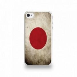 Coque  iPhone 4/4S Silicone motif Drapeau Japon Vintage