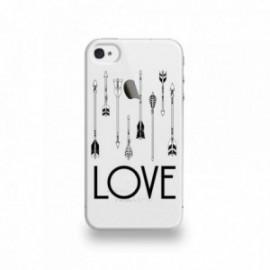 Coque  iPhone 4/4S Silicone motif Fleche Love