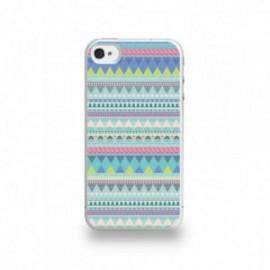 Coque  iPhone 4/4S Silicone motif Pattern Bleu
