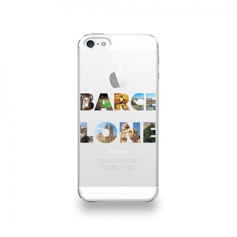 coque iphone 5 5s se silicone motif barcelone. Black Bedroom Furniture Sets. Home Design Ideas