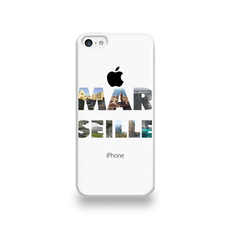 coque iphone 5c silicone motif marseille destination telecom. Black Bedroom Furniture Sets. Home Design Ideas