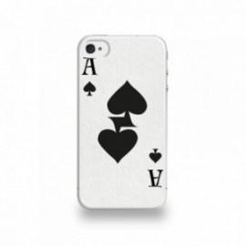Coque  iPhone 4/4S Silicone motif As de Pique