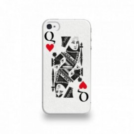 Coque  iPhone 4/4S Silicone motif Dame de Coeur