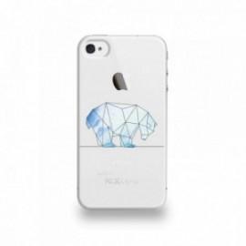 Coque  iPhone 4/4S Silicone motif Ours Géometrique