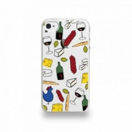 Coque  iPhone 4/4S Silicone motif Gastronomie Française Apéro