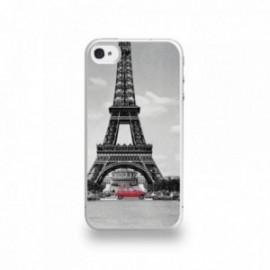 Coque  iPhone 4/4S Silicone motif 4L et la Tour Eiffel