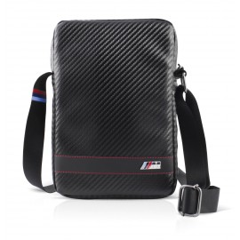 BMW M Sport 9-10 pouces Travel Bag Carbon Effect Black stripe