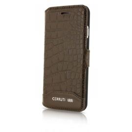 Etui iphone 7 plus Cerruti 1881 folio croco marron