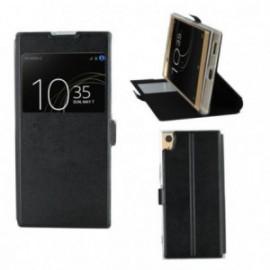 Etui Sony XA 1 Ultra stand fenêtre noir
