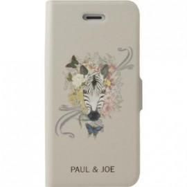 Etui iPhone 5 / 5S / SE Paul and Joe beige motif zèbre