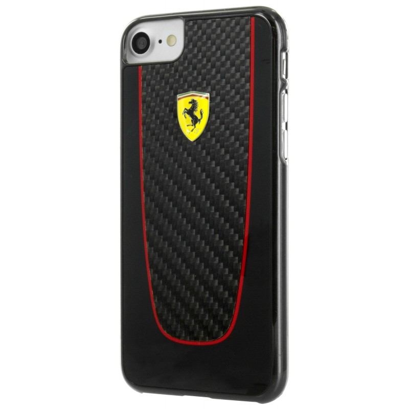 coque iphone 7 ferrari pit stop carbone noir - destination telecom