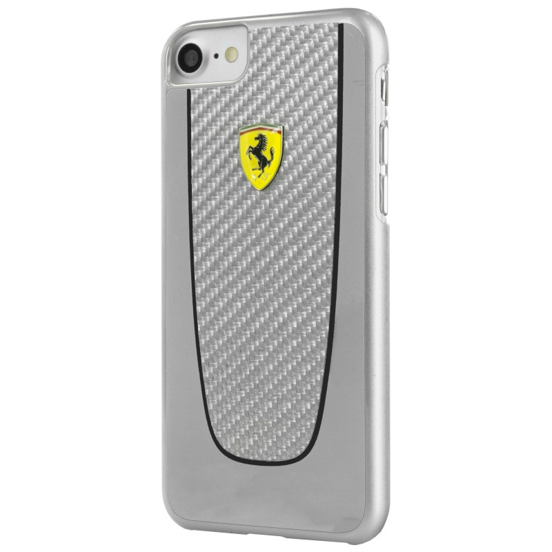 coque iphone 7 ferrari pit stop carbone grise - destination telecom