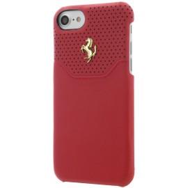 Coque iphone 7 Ferrari Lusso cuir rouge