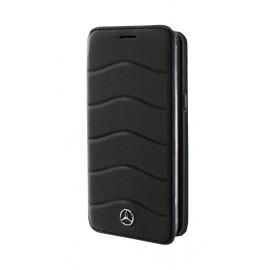 Etui Samsung Galaxy S8 G950 Mercedes Wave VII folio cuir noir