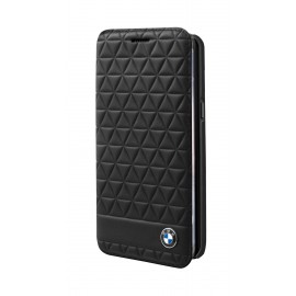 Etui Samsung Galaxy s8 plus BMW Embossed Hexagon folio noir
