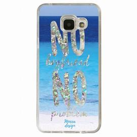 Coque Samsung A5 2016 gel no boyfriend no problem argent
