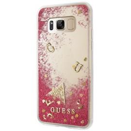 Coque Samsung Galaxy S8 Guess Glitter Raspberry